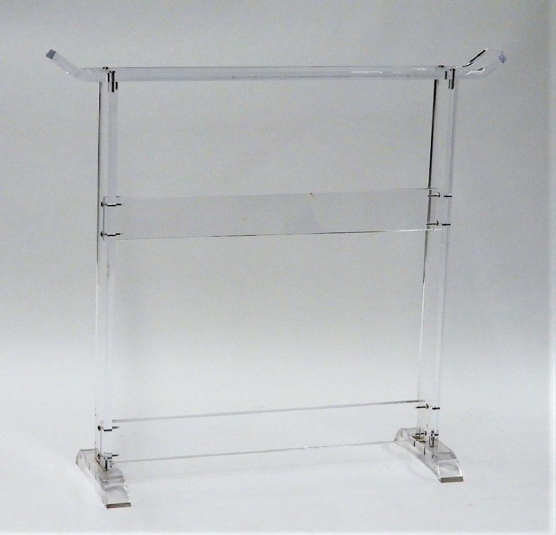 MCM Acrylic Lucite Asiatic Clothing Rack Stand