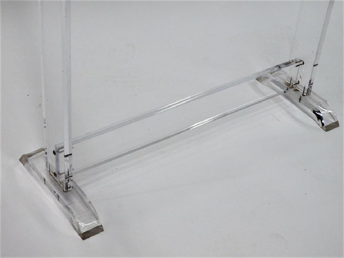 MCM Acrylic Lucite Asiatic Clothing Rack Stand - 3