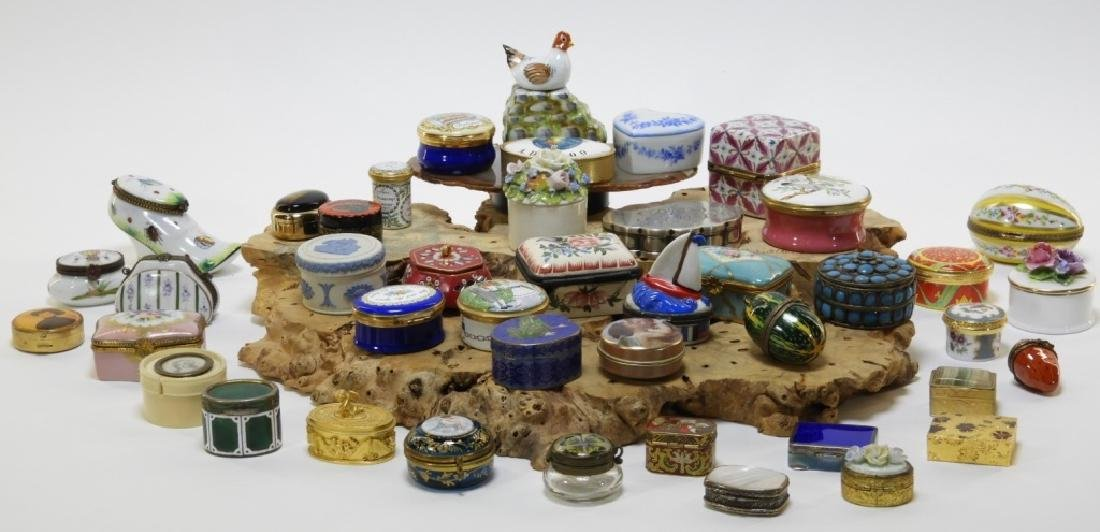 44PC French Porcelain Limoges Enamel Pill Boxes