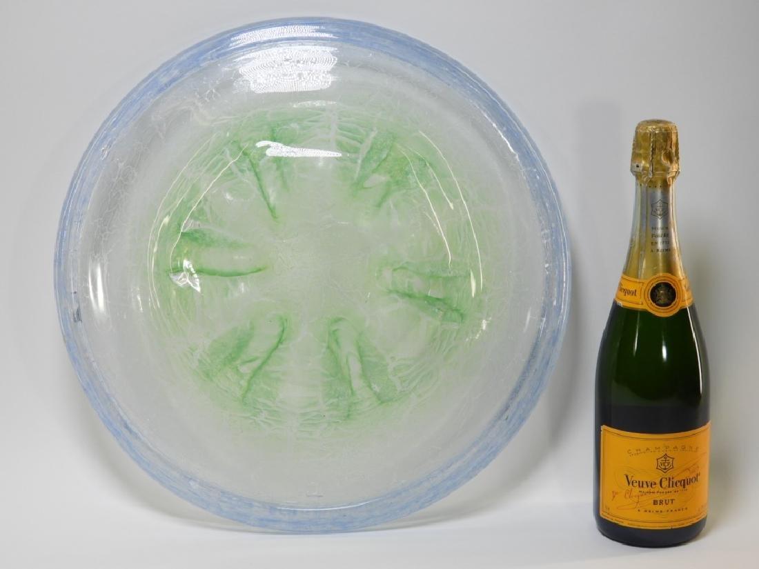 German MCM WMF Ikora Art Glass Centerpiece Bowl - 4