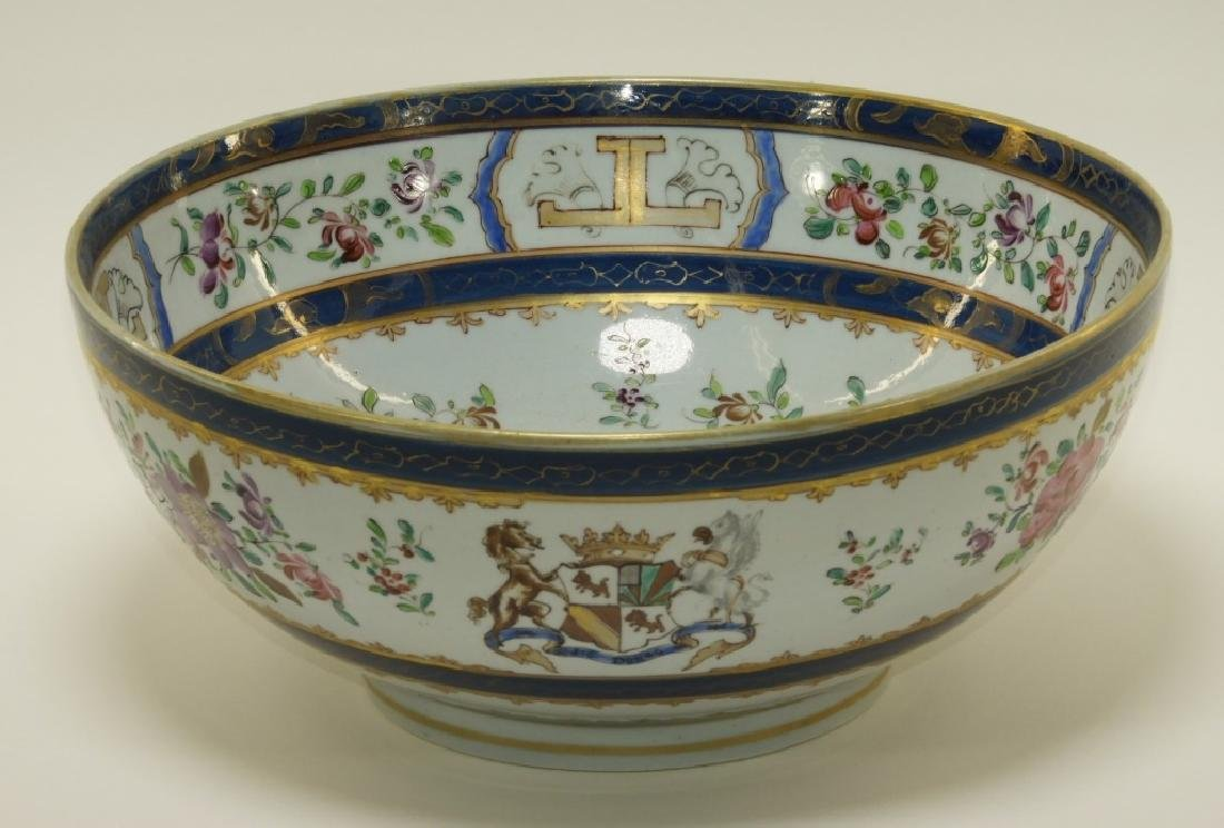 19C. French Samson Porcelain Chinese Armorial Bowl