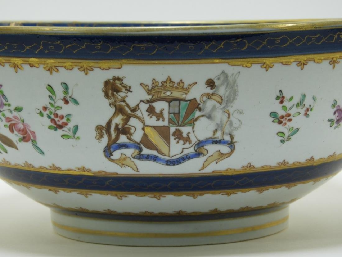 19C. French Samson Porcelain Chinese Armorial Bowl - 2