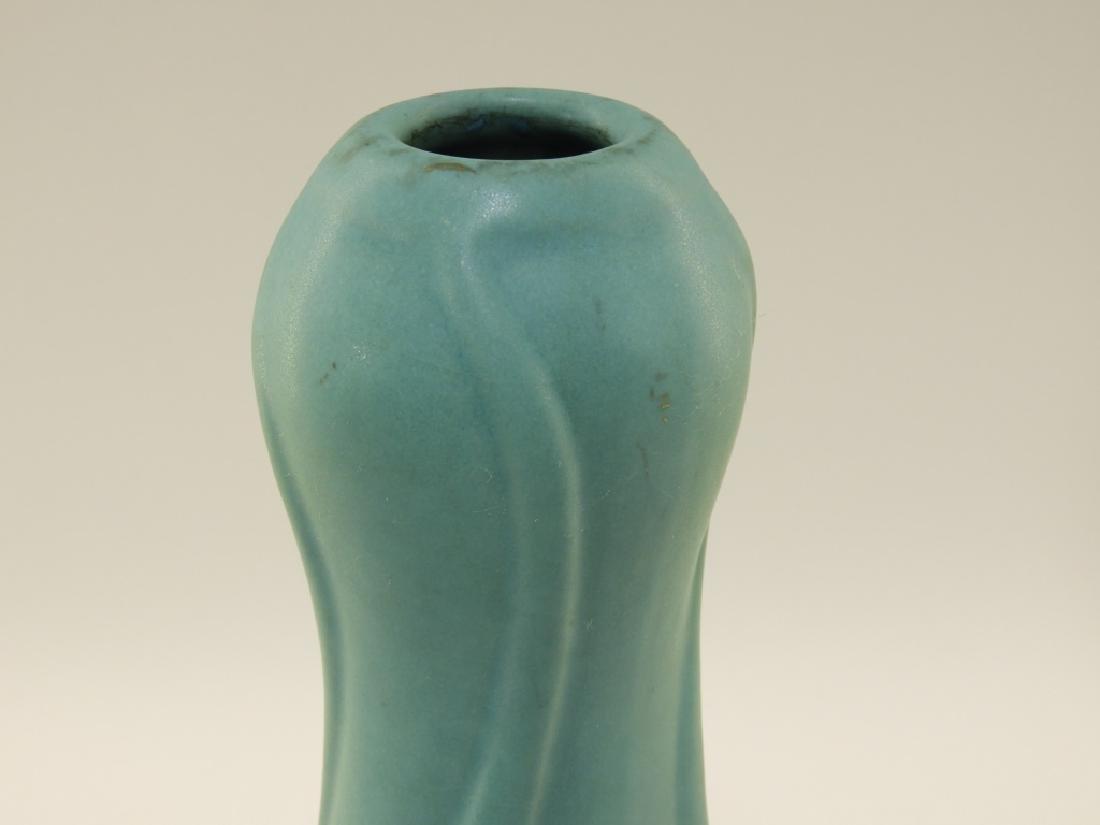 Van Briggle Pottery Floriform Turquoise Glaze Vase - 2