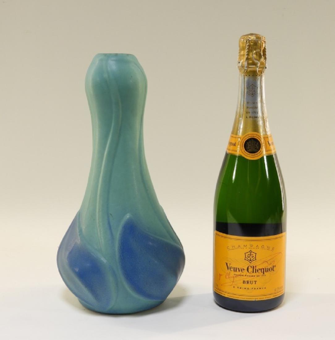 Van Briggle Pottery Floriform Turquoise Glaze Vase - 6
