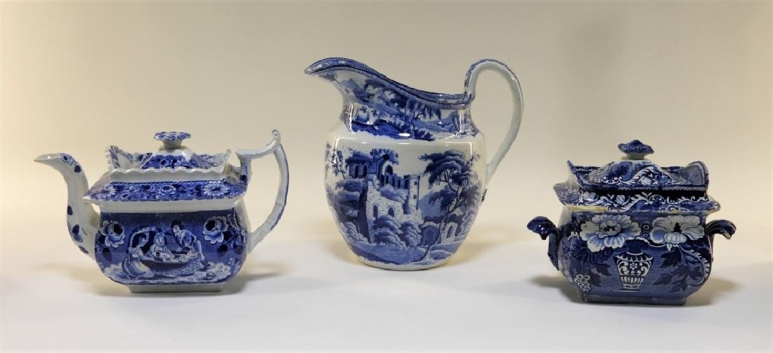 3PC. English Clews Staffordshire Transferware