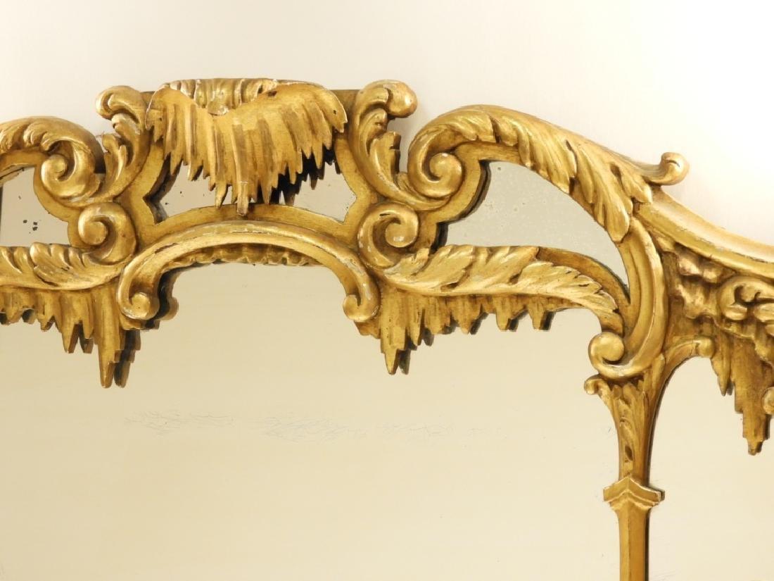 18C French Chinoiserie Gilt Wood Crane Hall Mirror - 2