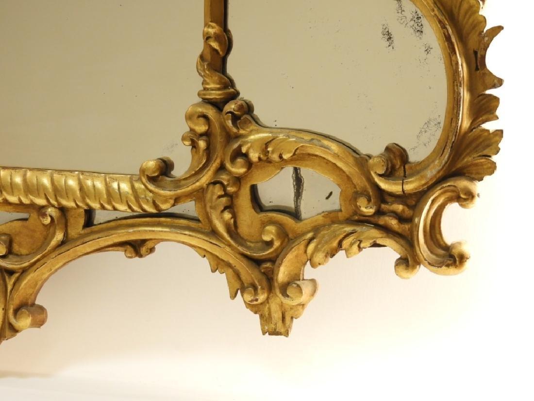 18C French Chinoiserie Gilt Wood Crane Hall Mirror - 4