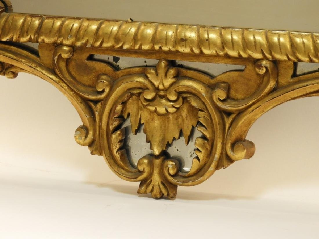 18C French Chinoiserie Gilt Wood Crane Hall Mirror - 5
