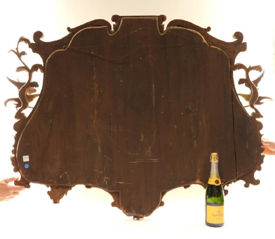 18C French Chinoiserie Gilt Wood Crane Hall Mirror - 8