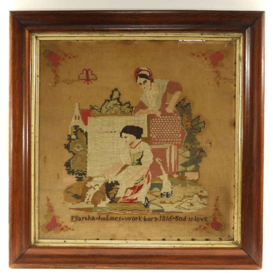 C.1816 American Martha Holmes Textile Sampler