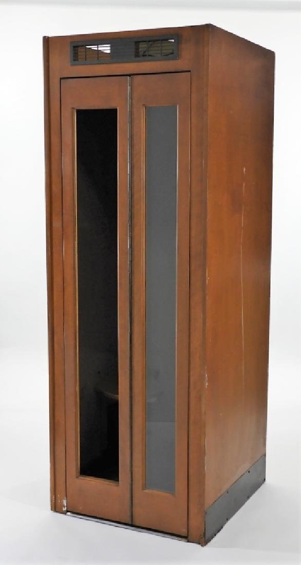 C.1940 Vented Dark Wood Telephone Phone Booth