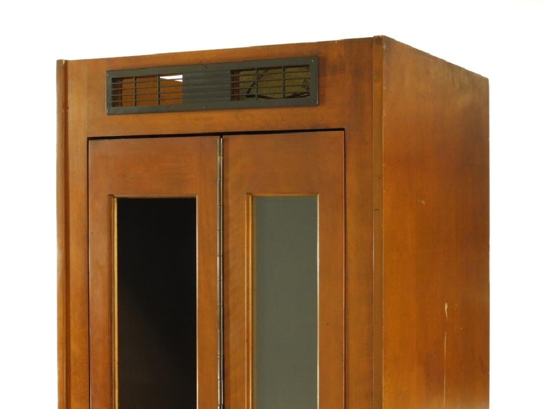C.1940 Vented Dark Wood Telephone Phone Booth - 2