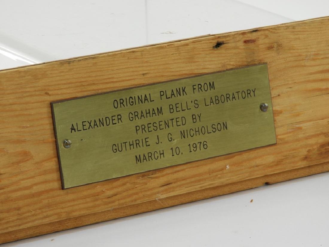 Alexander Graham Bell Original Laboratory Plank