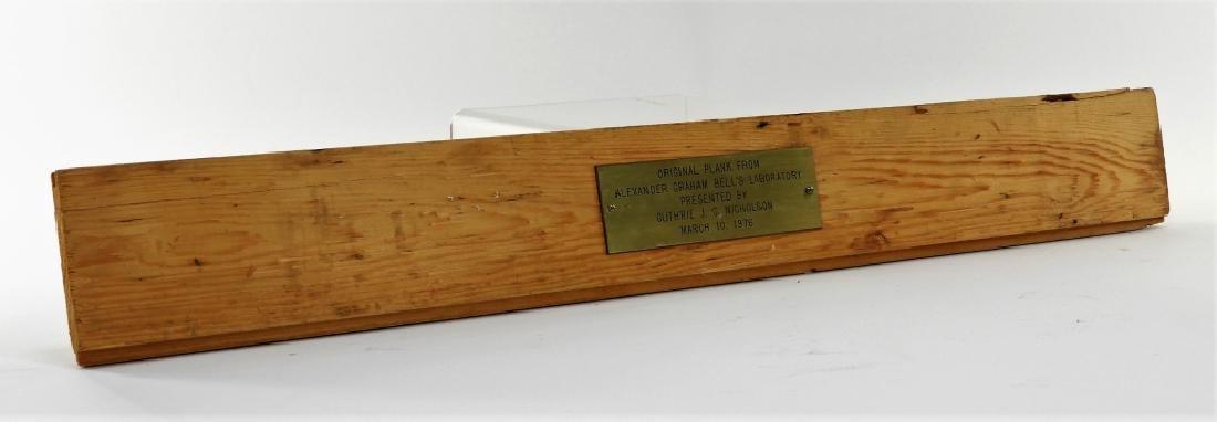 Alexander Graham Bell Original Laboratory Plank - 2