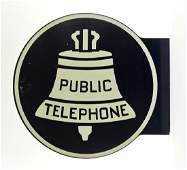 Public Telephone Round DS Painted Flange Sign