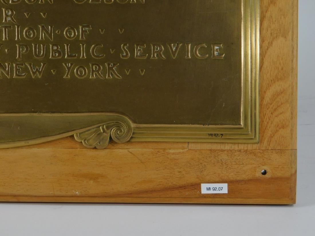 C.1931 Vail Memorial Telephone Medal Bronze Plaque - 3