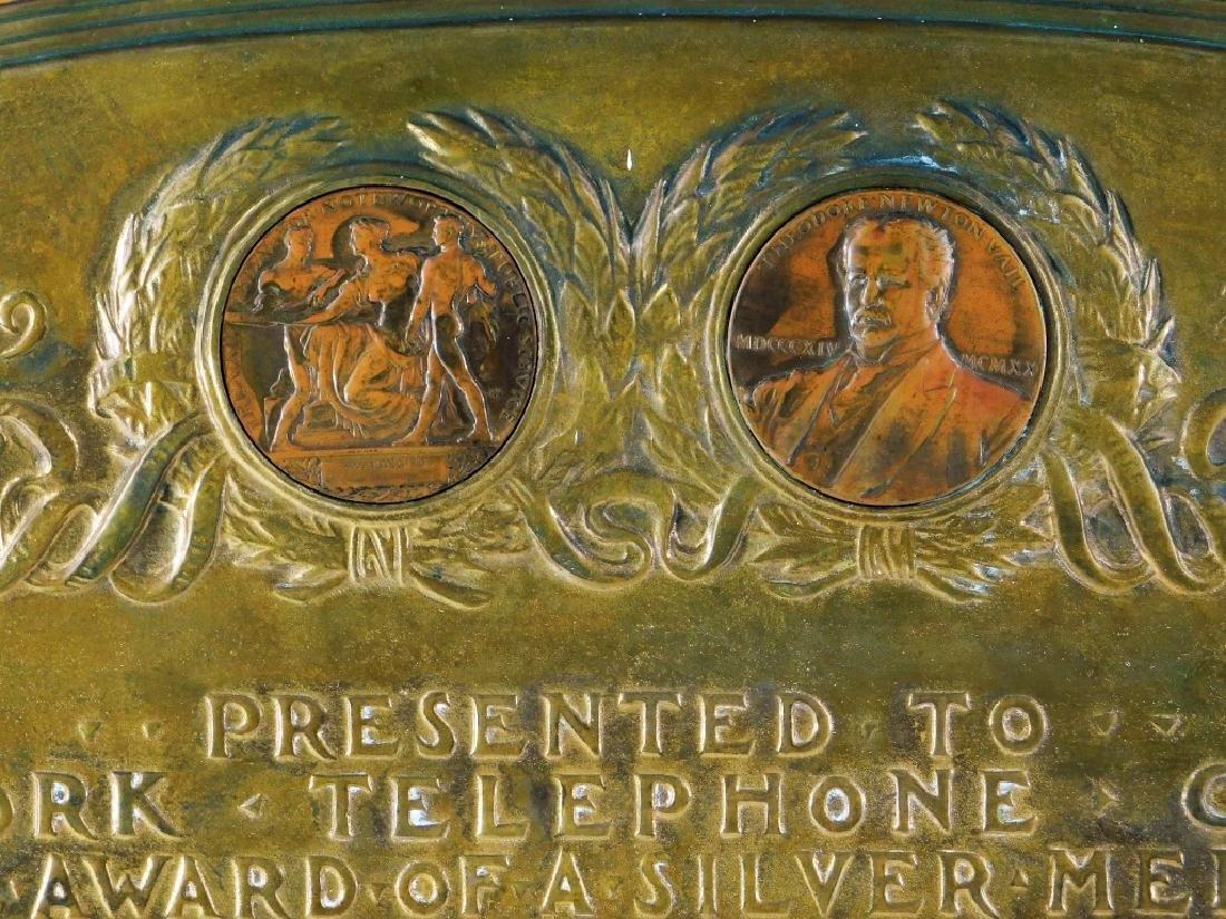 Vail Memorial Telephone Silver Medal Bronze Plaque - 2