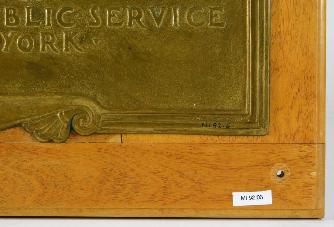 Vail Memorial Telephone Silver Medal Bronze Plaque - 3