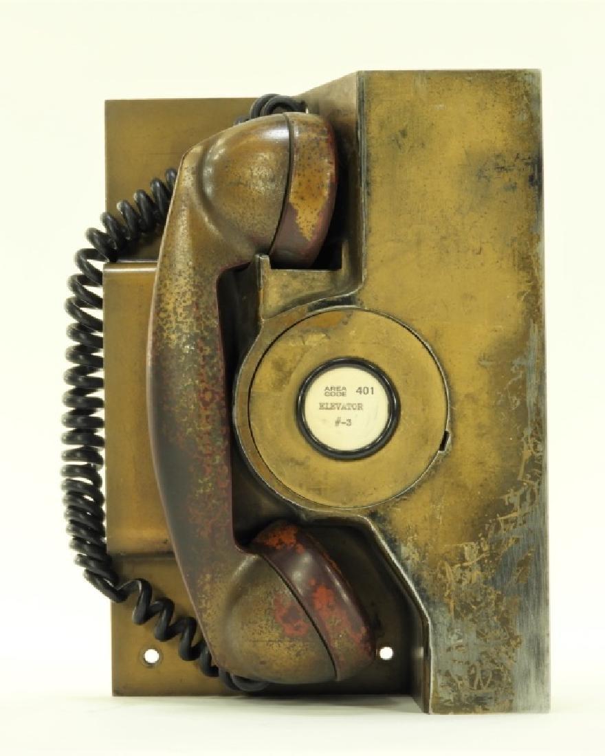 Western Electric Elevator Phone ID'd Providence RI