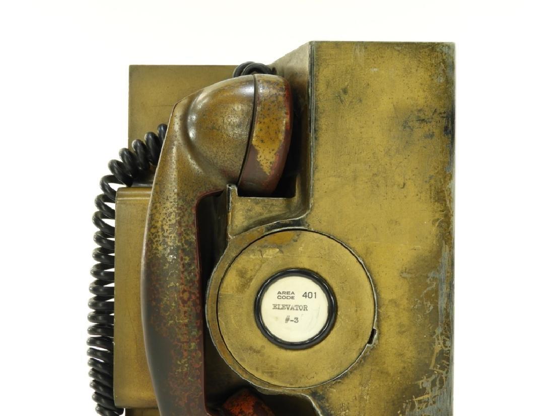 Western Electric Elevator Phone ID'd Providence RI - 2