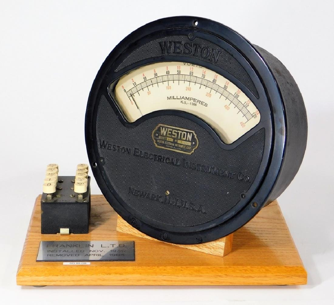 Weston Electrical Instrument Co Milliamperes Gauge