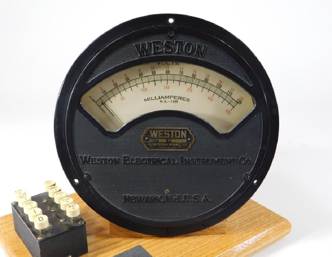 Weston Electrical Instrument Co Milliamperes Gauge - 3