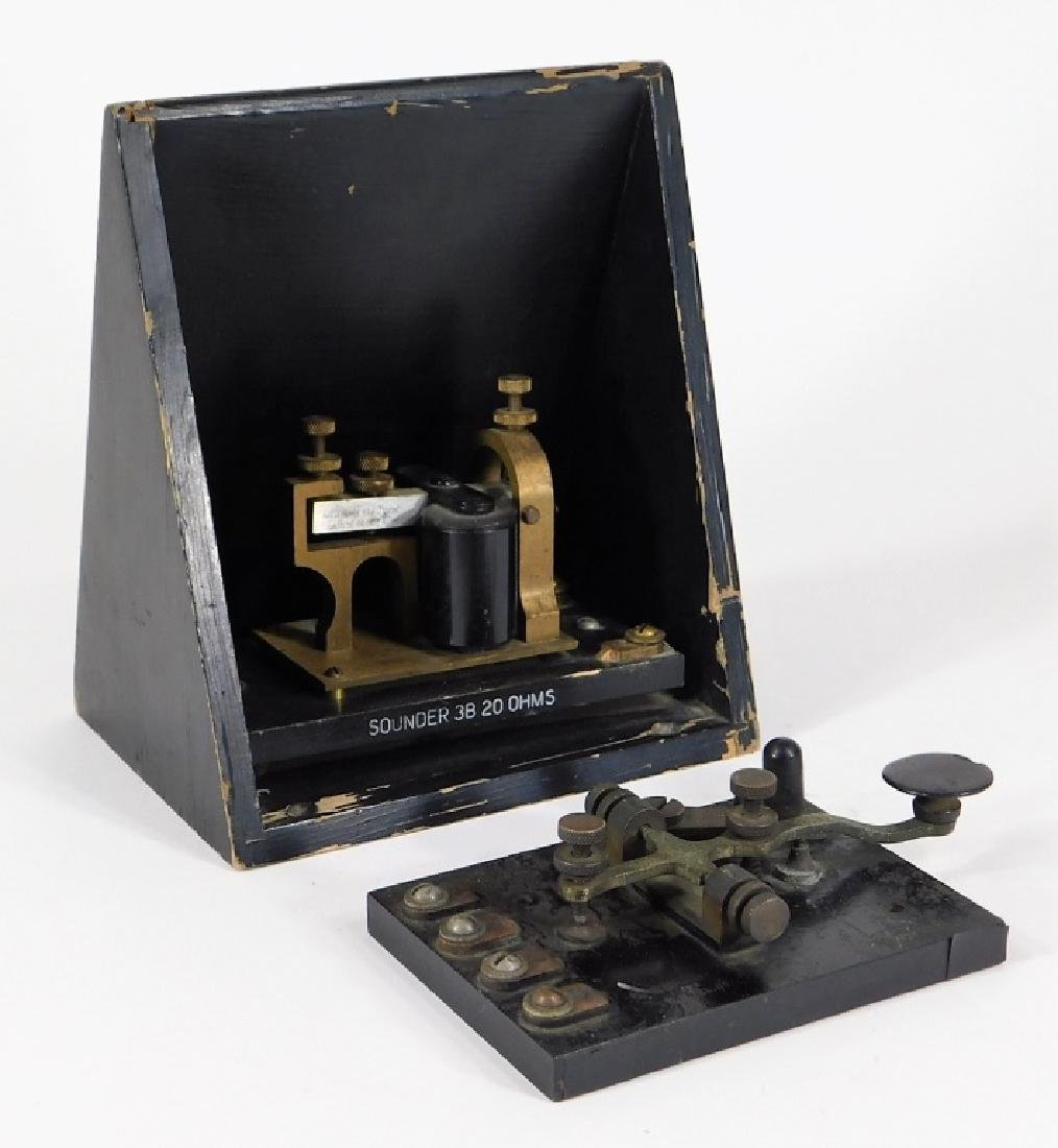 Telegraph Switch Key & Triangle Box Sounder