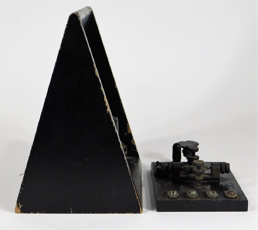 Telegraph Switch Key & Triangle Box Sounder - 3
