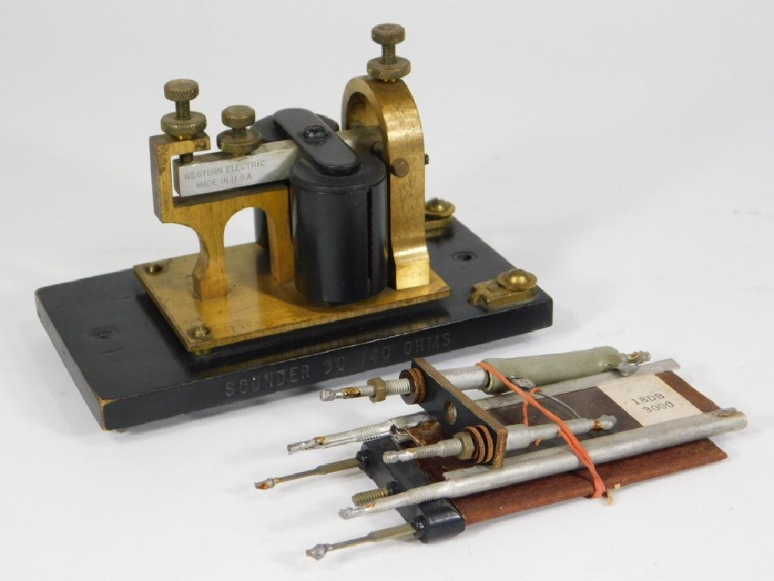 Telegraph Switch Key & Triangle Box Sounder - 8