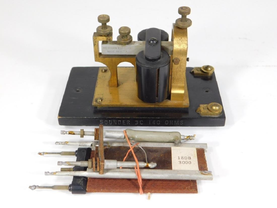 Telegraph Switch Key & Triangle Box Sounder - 9