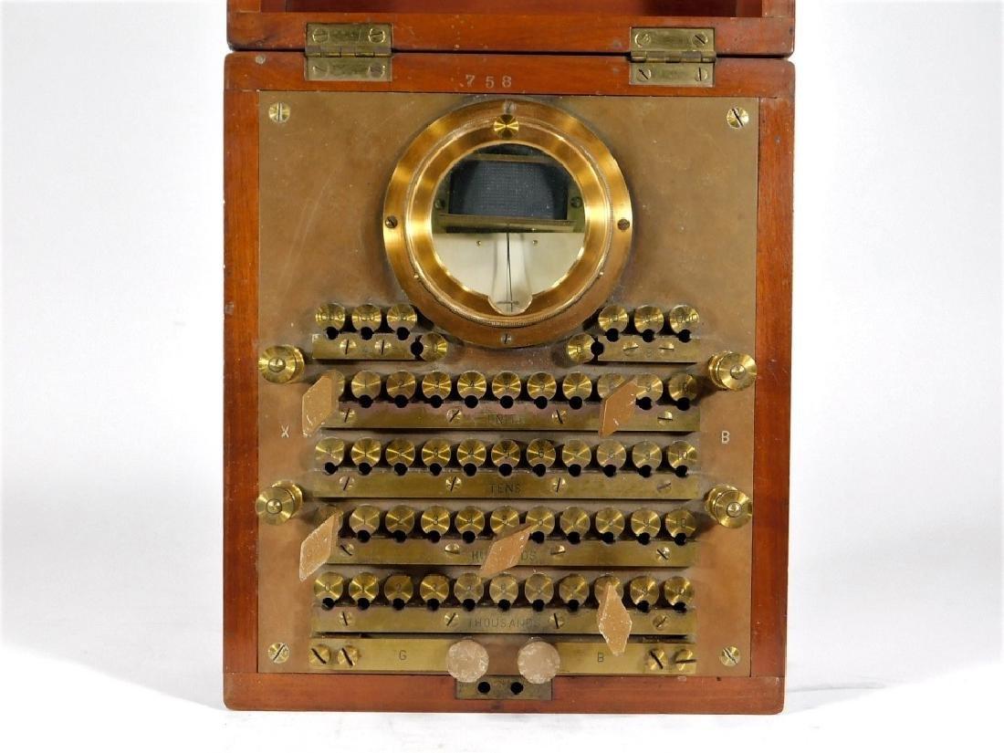 1907 Wheatstone Bridge Telephone Lineman Test Set - 3