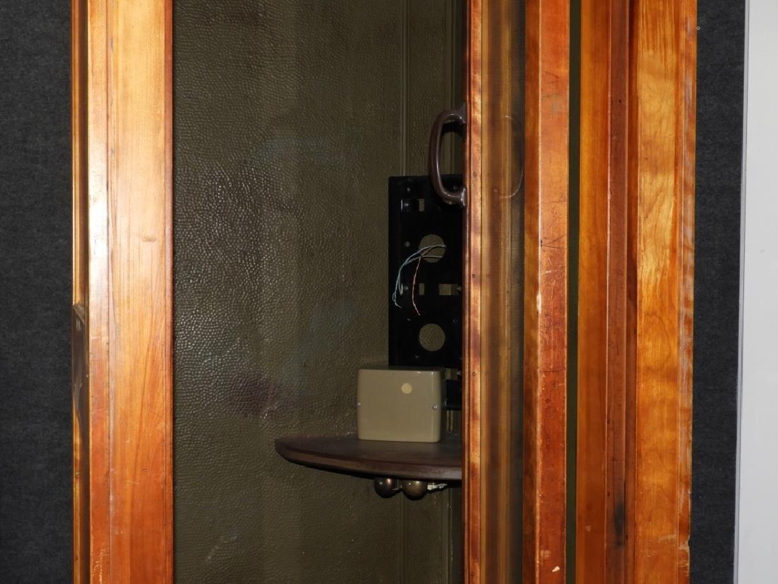 Vintage Veneer Pay Telephone Phone Booth - 2