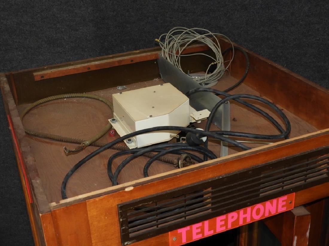 Vintage Veneer Pay Telephone Phone Booth - 5