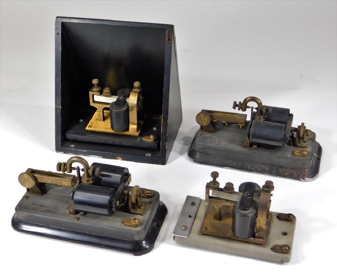 4PC Western Electric Telegraph Relay Key Sounder
