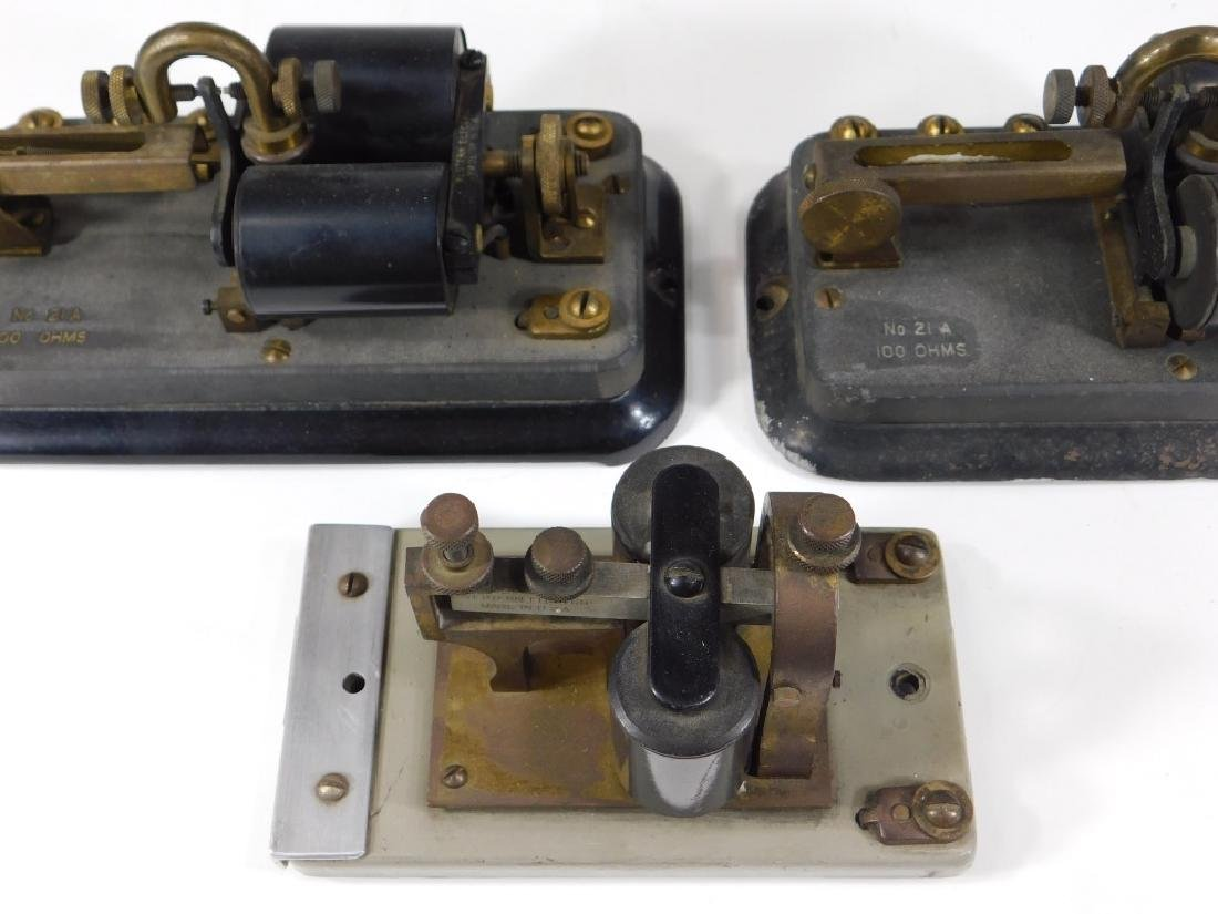 4PC Western Electric Telegraph Relay Key Sounder - 4