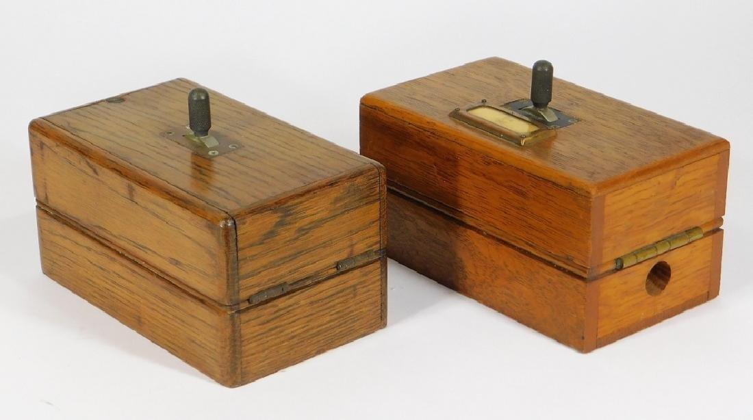 PR Oak Telegraph Keys for Circuit to Havana Cuba
