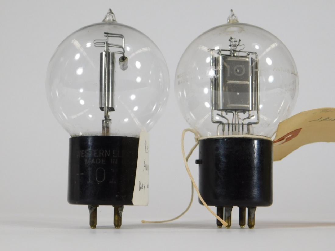 2 ID'd Western Electric 101-F Tennis Ball Tubes - 4