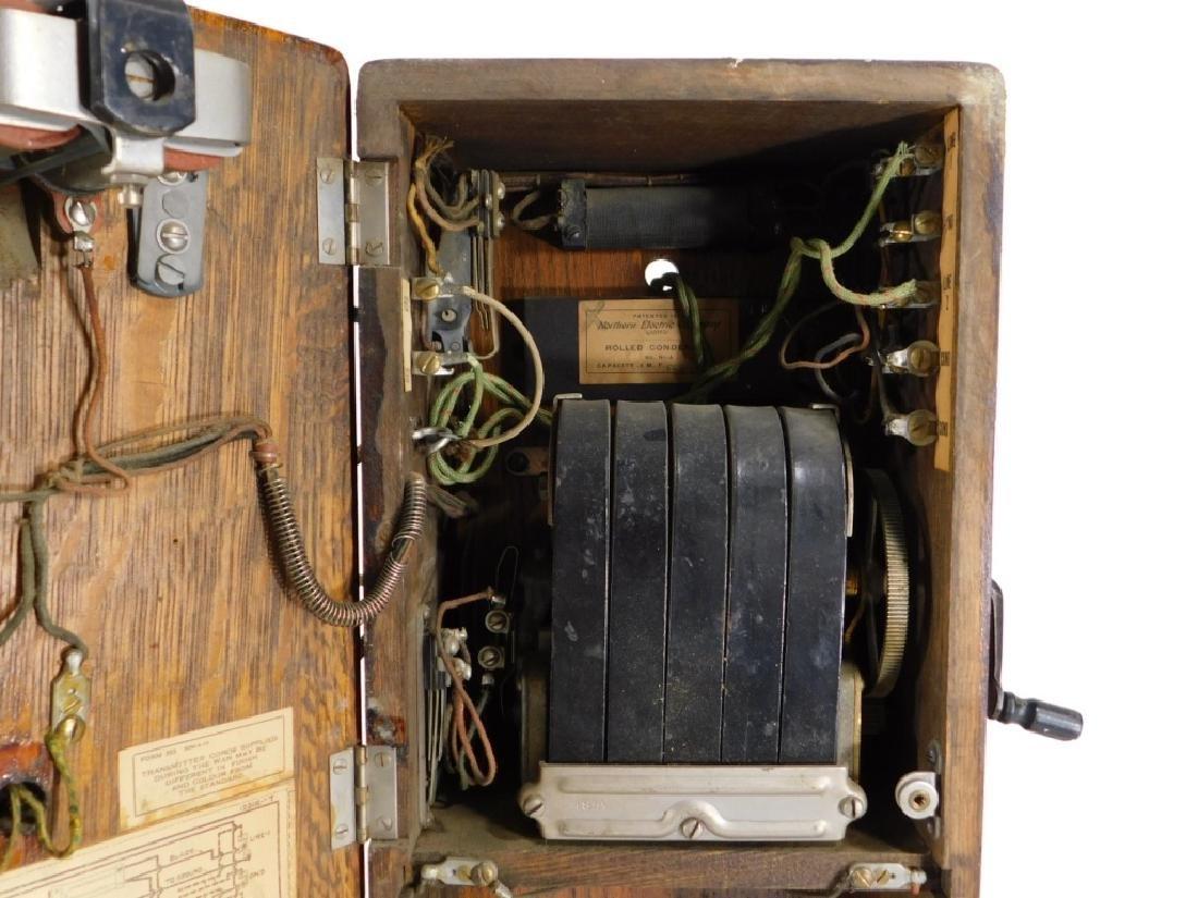 ID'd Black Point RI Oak Wall Mounted Telephone - 10