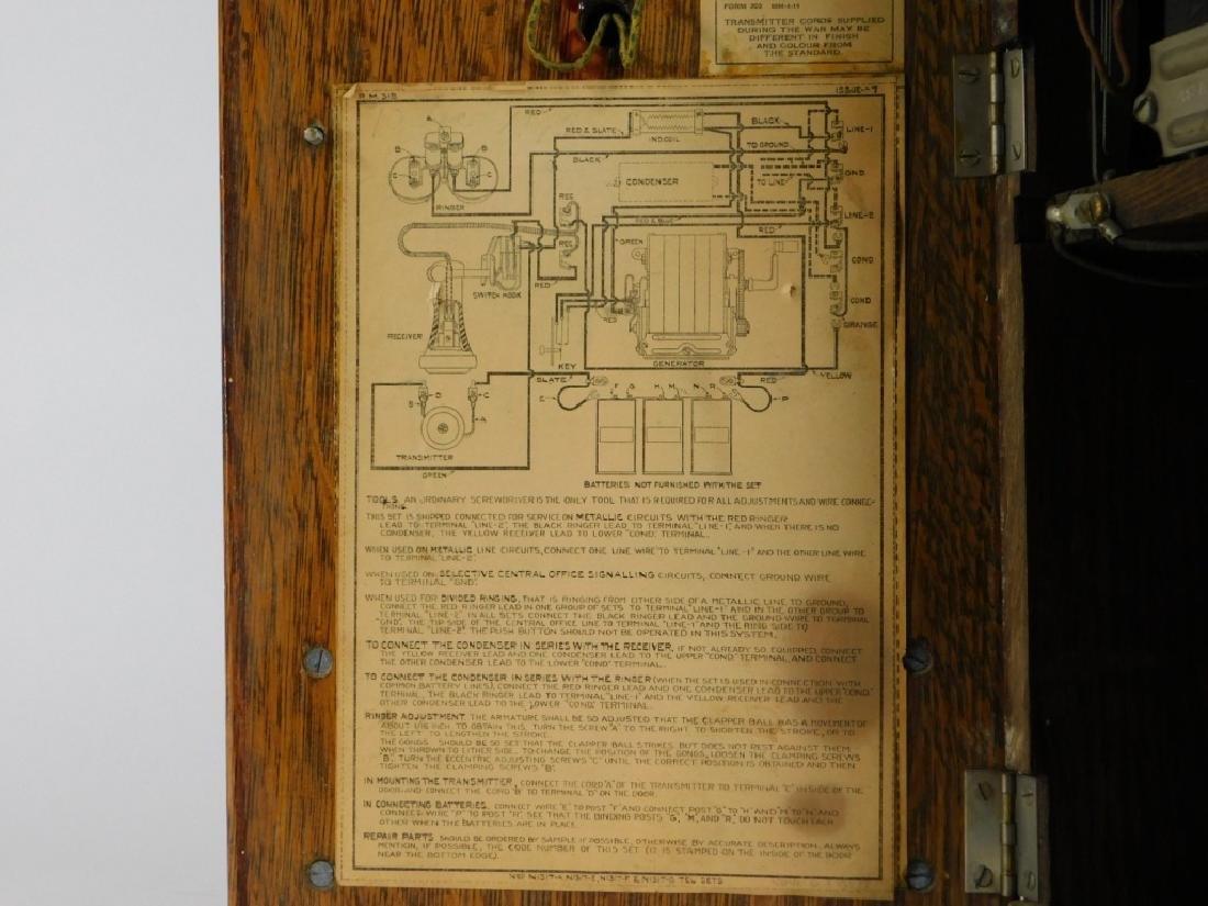 ID'd Black Point RI Oak Wall Mounted Telephone - 9