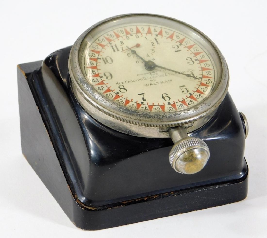 ID'd Little Compton RI Waltham Switchboard Clock