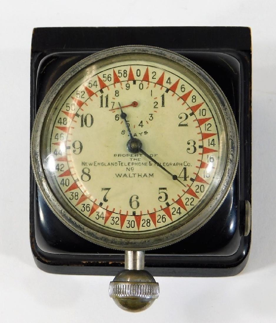 ID'd Little Compton RI Waltham Switchboard Clock - 2