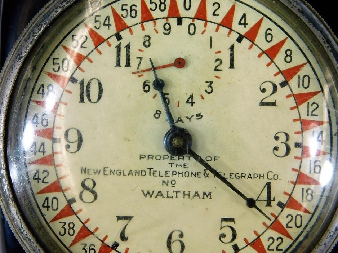 ID'd Little Compton RI Waltham Switchboard Clock - 3