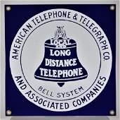 Ande Rooney Bell Telephone Porcelain Enamel Sign
