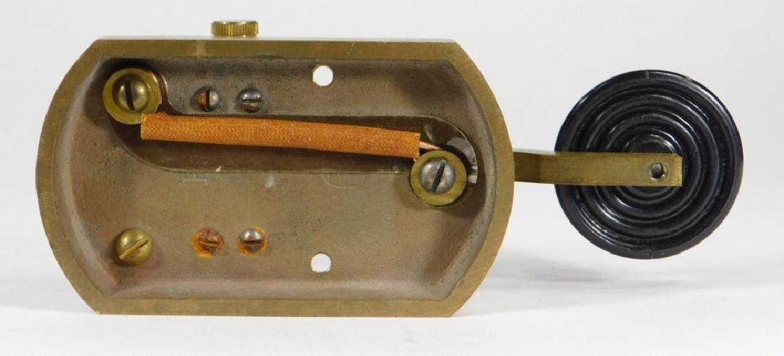 Signal Electric Heavy Duty Brass Telegraph Key - 4