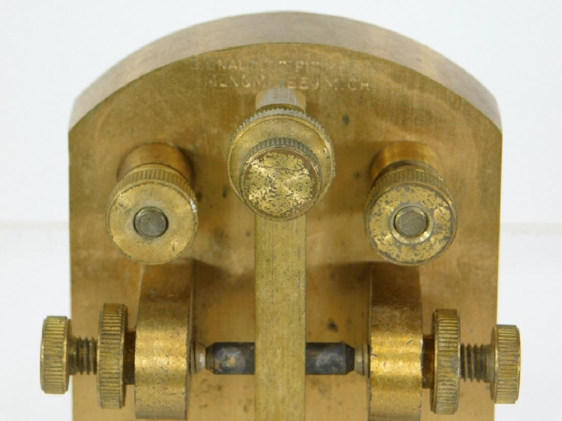 Signal Electric Heavy Duty Brass Telegraph Key - 5
