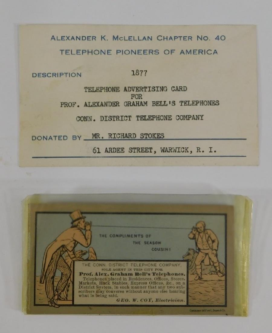 1877 Alexander Graham Bell Trade Card Advertising