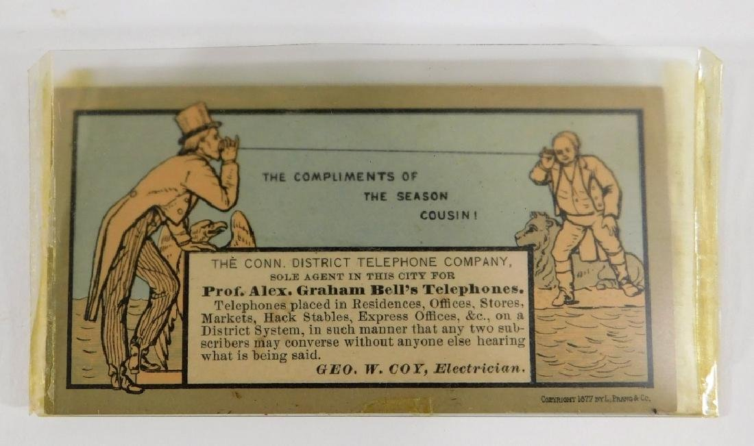 1877 Alexander Graham Bell Trade Card Advertising - 2