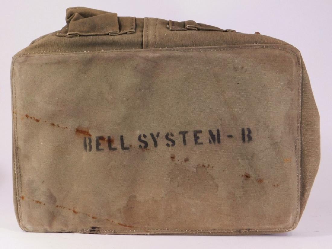 Vintage Bell System B Lineman's Canvas Tool Bag - 4