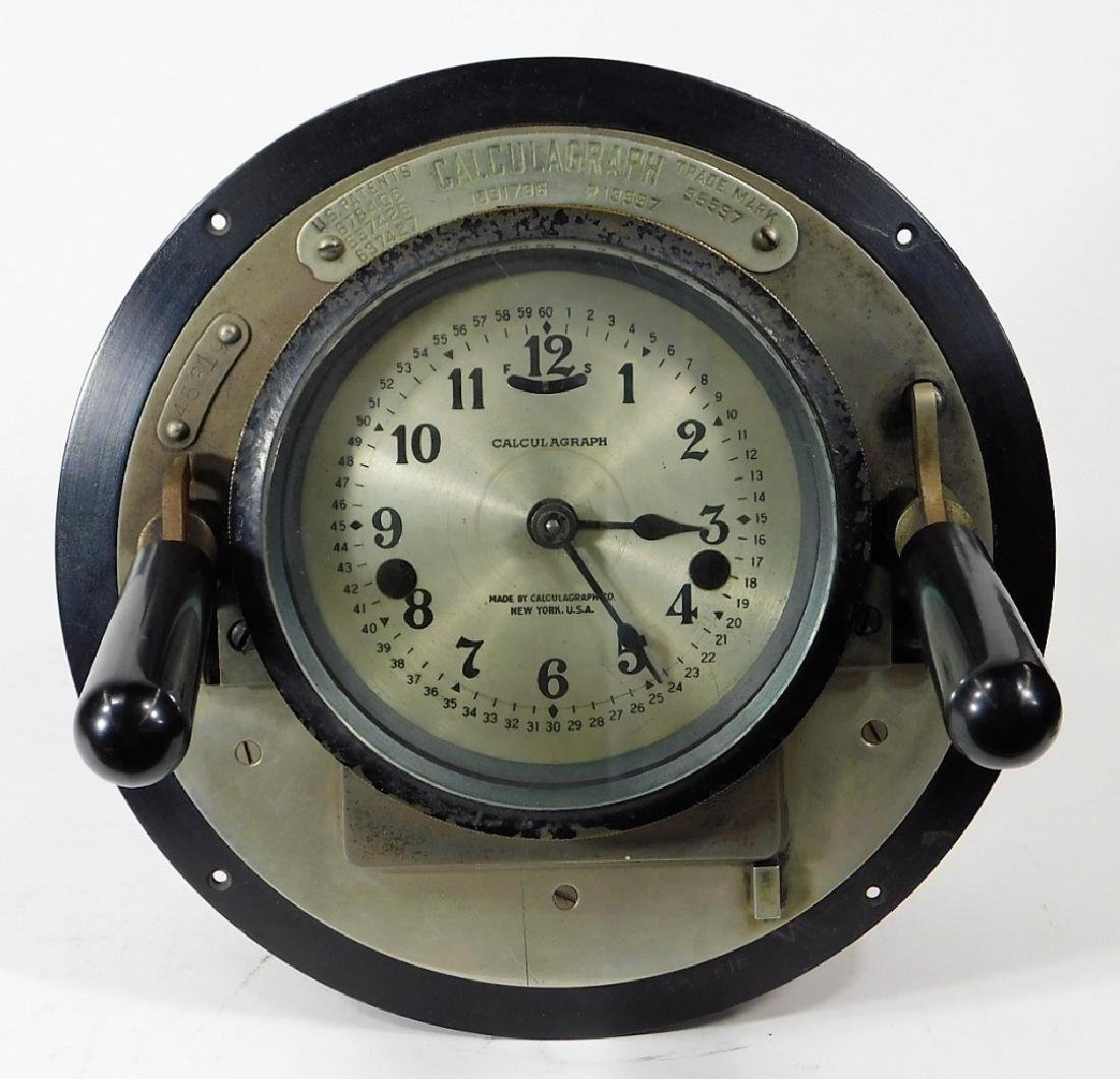 Early Metal Calculagraph Time Recording Machine