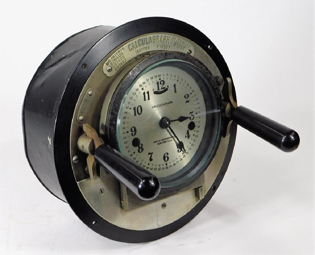 Early Metal Calculagraph Time Recording Machine - 2